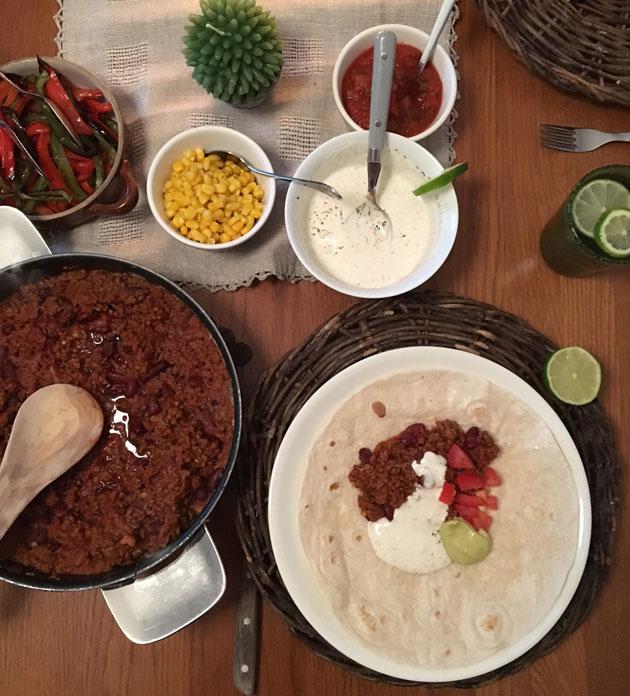 Chili con carne — vaivaton ja maukasateria