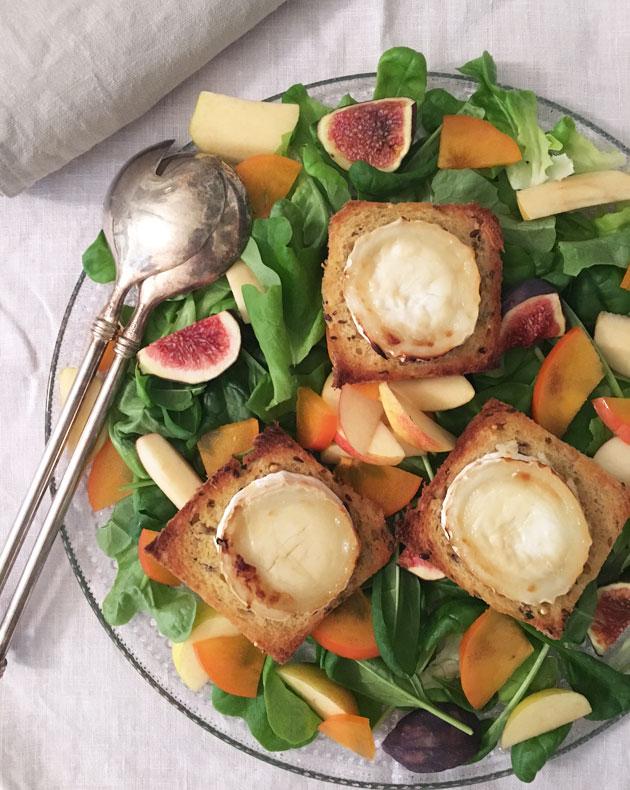 Omenainen vuohenjuustosalaatti