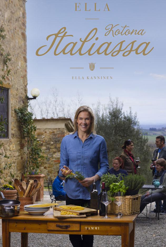 Ella kotona Italiassa -kirjan kansi