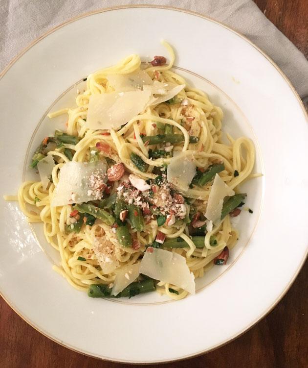 Mantelinen gremolata-pasta
