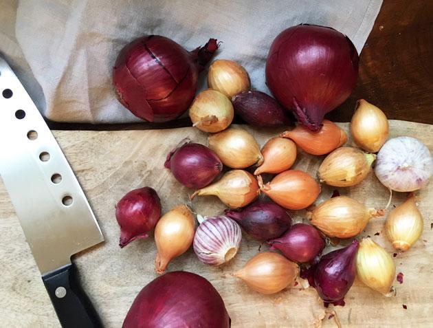 Chorizolla maustettu sipulinenlihapata