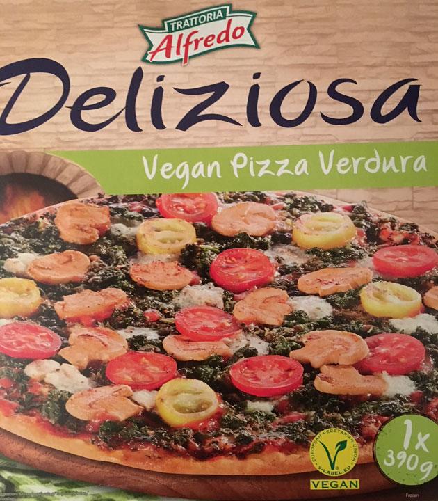 Vegan pizza Verdura -pakkaus