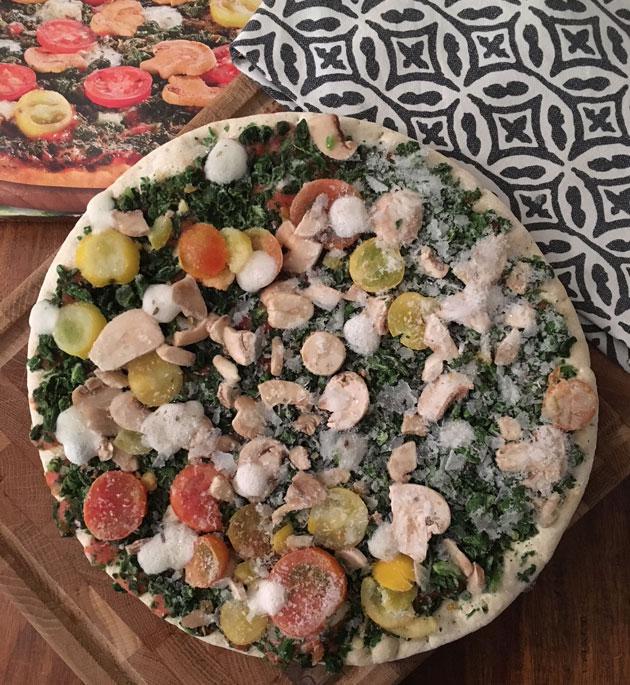 Lidlin Trattoria Alfredon vegaaninen pizza Verdura